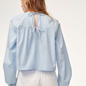 NWT 🆕 Wilfred Enola pleated tie-back blouse